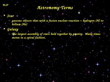 Astronomy Belt Loop Presentation (Cub Scouts)