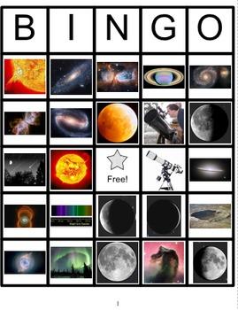 Astronomy Bingo