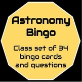 Astronomy Bingo (class set)