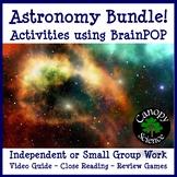 Astronomy Bundle! Activities using BrainPOP