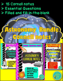 Astronomy Bundle Cornell notes: Solar System, Galaxy, and Beyond