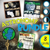 Astronomy Bundle - Earth's Rotation and Revolution, Moon Phases, Constellations