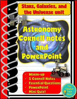 Astronomy Bundle- Stars, Galaxies, & Universe (Cornell Notes & Presentation)