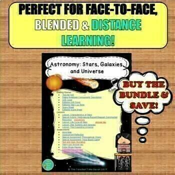Astronomy Bundle- Stars, Galaxies, and Universe Unit (Digital Google Drive)