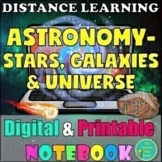 Stars, Galaxies, and Universe Unit Digital &  Printable Interactive Notebook