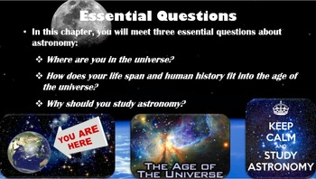 Astronomy: Chapter 1 Our Location in the Universe (Premium PowerPoint 2013)
