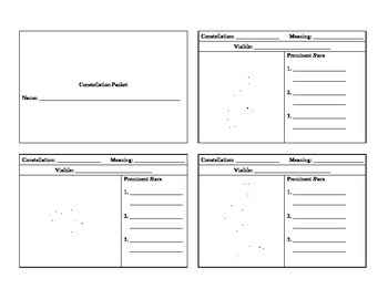 Astronomy Constellation Packet