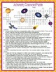 Astronomy Crossword Puzzle and Word Search Find Activities