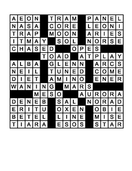 "Astronomy Crossword - ""Things Are Looking Up!"" - 15 X 15"
