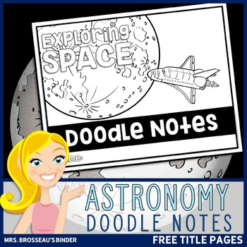 Astronomy Science Doodle Note - Free Title Pages