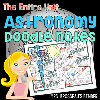 Astronomy Doodle Notes - Entire Unit Bundle by Mrs Brosseau's Binder