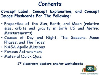 Earth, Moon & Sun Flashcards - task cards study guide state exam prep 2017 2018