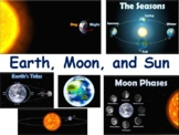 Earth, Moon & Sun Flashcards - task cards study guide state exam prep 2018 2019