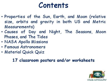 Earth, Moon, and Sun Lesson- classroom unit, study guide, state exam prep