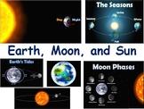 Earth, Moon & Sun Lesson - classroom unit study guide stat