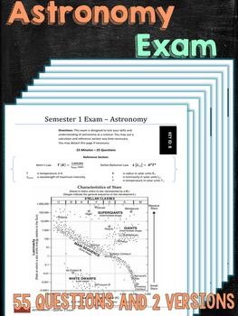 Astronomy Exam Assessment