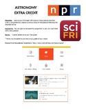 Astronomy Extra Credit Assignment_NPR Sci Fri