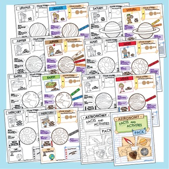 Astronomy Facts and Activities - 24 Pack