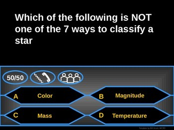 Astronomy - Galaxies and Universe - Who Wants to be a Millionaire Review Game