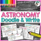 Astronomy, Solar System and Planets Doodle and Write Activity