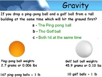 Astronomy - Gravity (Basics) (POWERPOINT)