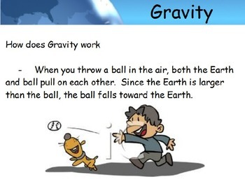 Astronomy - Gravity (Basics) -  (POWERPOINT)