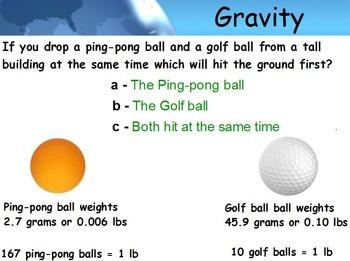 Astronomy - Gravity w/worksheet (SMART BOARD)