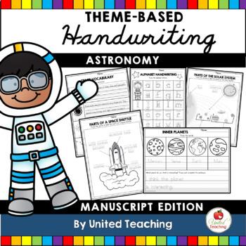 Astronomy Handwriting Lessons (Manuscript Edition)