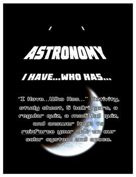 Astronomy I Have...Who Has... Activity Set