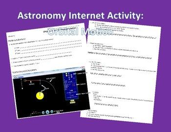 Astronomy Internet Activity: Orbital Simulation