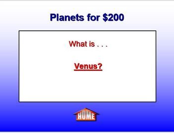 Astronomy Jeopardy PowerPoint Game - EDITABLE