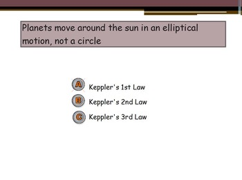 Astronomy - Kepler's Laws of Planetary Motion w/worksheet (SMART BOARD)