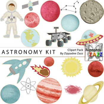 Astronomy Kit Clipart - Space / Planets / Astronomy Week