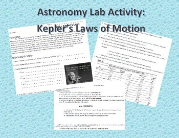 Astronomy Lab Activity: Kepler's Laws