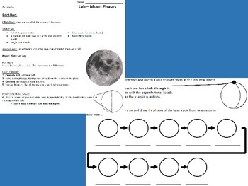 Astronomy Lab - Paper Plate Moon Phases