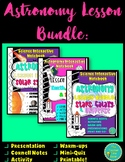 Astronomy and Space Science Lesson Bundle Interactive Notebook