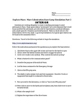 Astronomy Mars Space Station INTERACTIVE Simulation Activity! Part 2