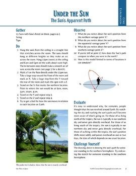 Astronomy: Model the Sun's Path; Make a Classroom Sundial