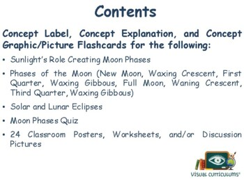 Moon Phases Flashcards - task cards, study guide, state exam prep 2017 2018