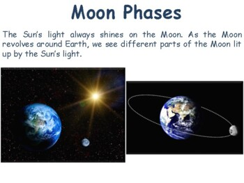 Moon Phases Lesson - classroom unit, study guide, state exam prep
