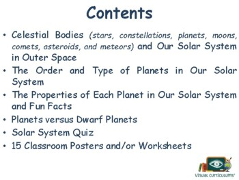 Our Solar System Lesson - classroom unit study guide state exam prep 2017 2018