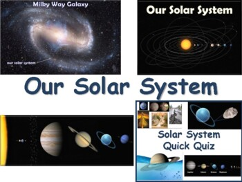 Our Solar System Lesson - classroom unit, study guide, sta