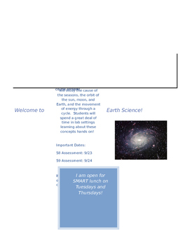 Astronomy Parent Newsletter