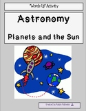 "Astronomy (Planets and the Sun) ""Words Up"" Activity"