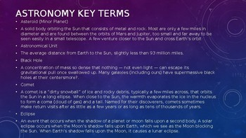 Astronomy Power-Point