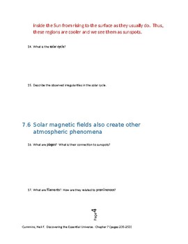 Astronomy Reading Guide - The Sun