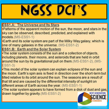 NGSS Astronomy Resource Bundle: PowerPoint Labs Guided Notes Prezi Board Game