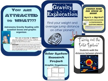 Astronomy Resources Bundle: Nonfiction, Activities, Research, Critical Thinking