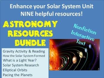Astronomy Resources Bundle: Nonfiction, Activities, Resear