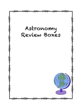 Astronomy Review Boxes